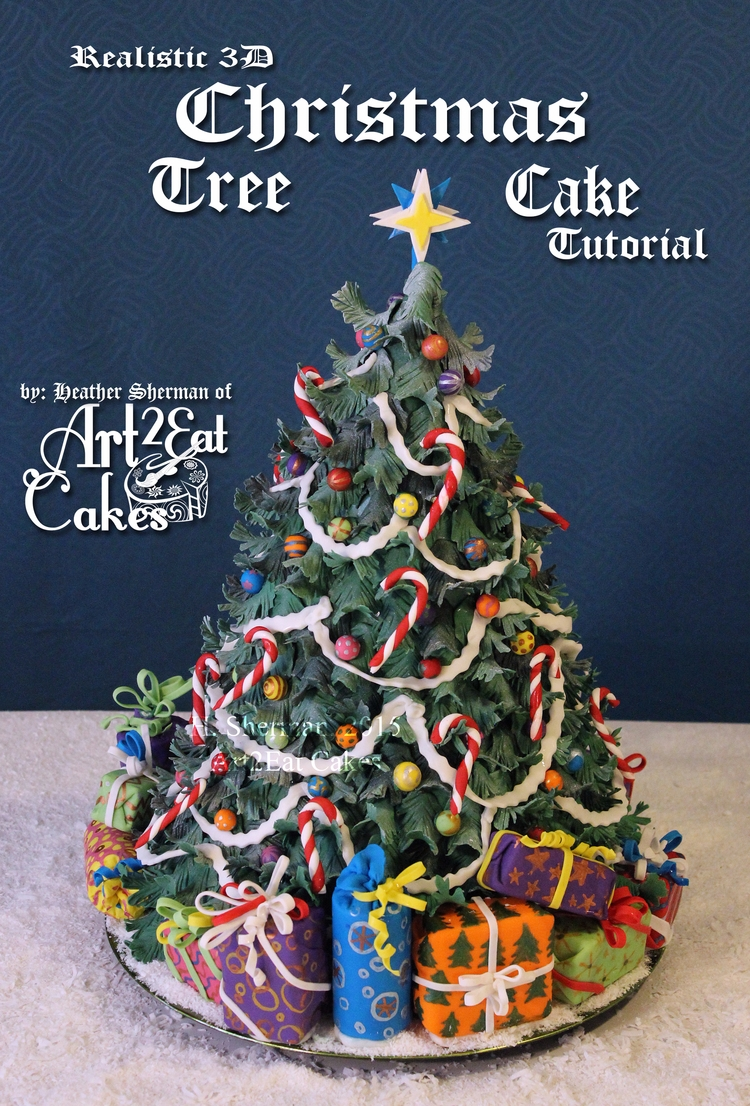3D Realistic Christmas Tree Cak - art2eatcakes | ello