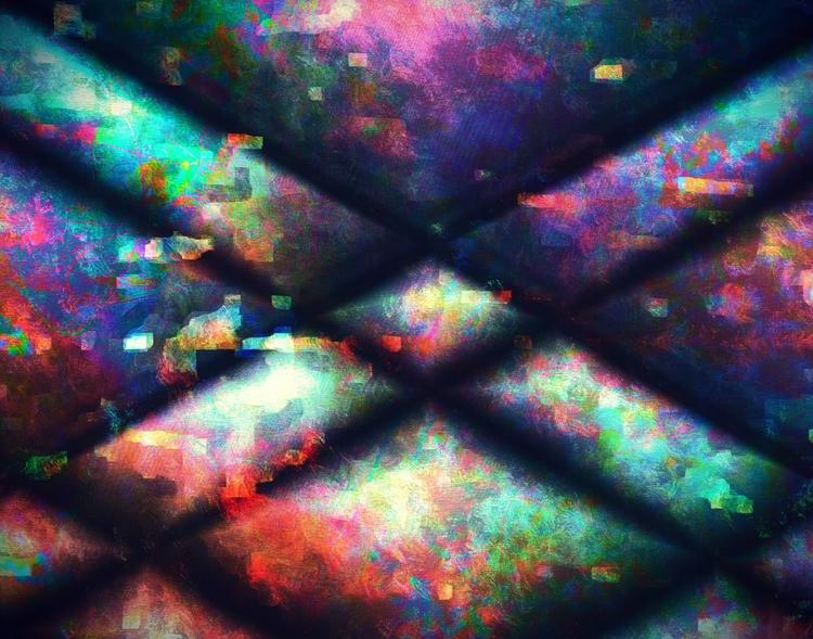Caged, abstract digital paintin - jmbowers   ello