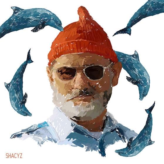 Sick dolphins - billmurray, alifeaquatic - shacyz | ello