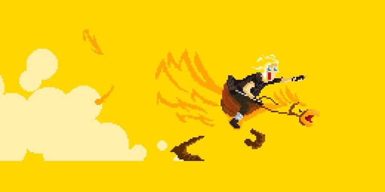 [Chocobo Yellow - pixel, pixelart - apoonto | ello