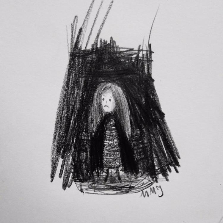 minimalism, spooky, drawing, sketch - maksmj | ello