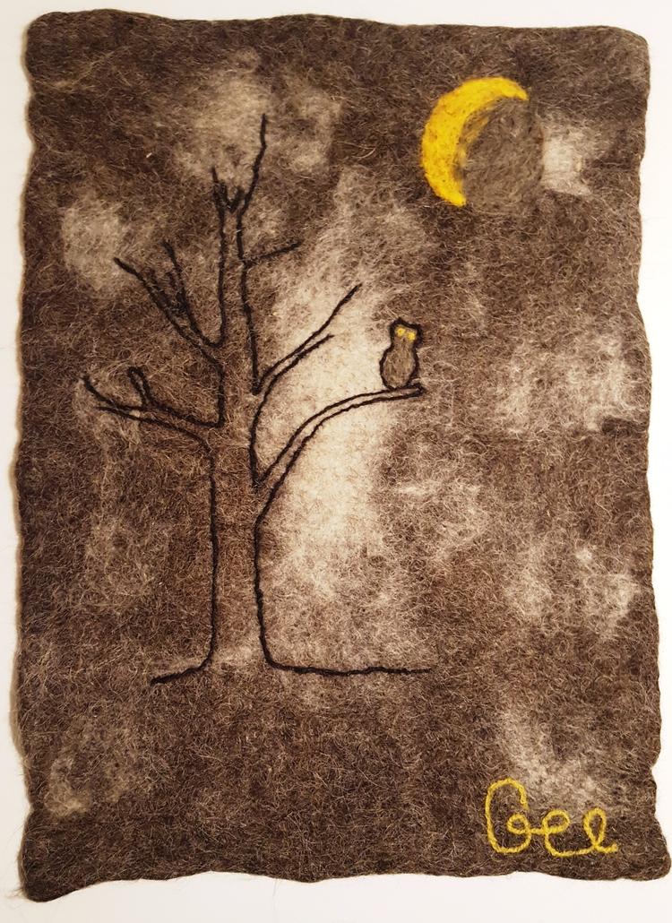 Owl, felt, 2017 - textile, wool - enesdzi   ello