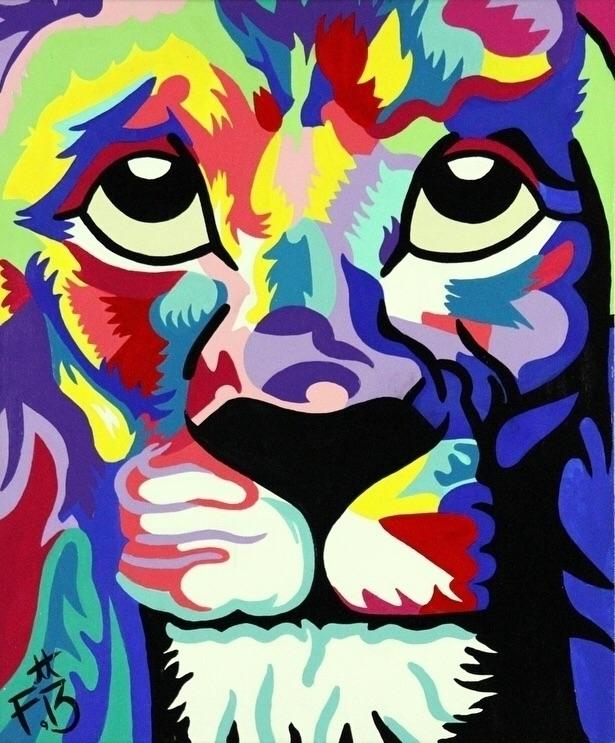 Leo Art 13 Acrylic Cavnas 24X20 - bitfactory | ello