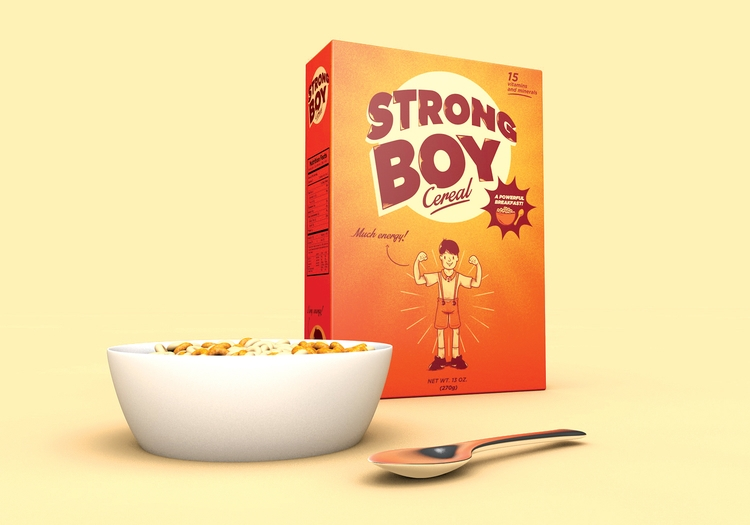 Strong Boy Cereal - cartoon, cereal - telescarlos | ello