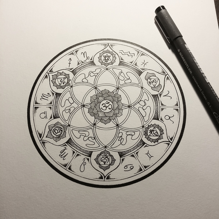 Cosmic Polia Wachtel - mandala, drawing - polia | ello