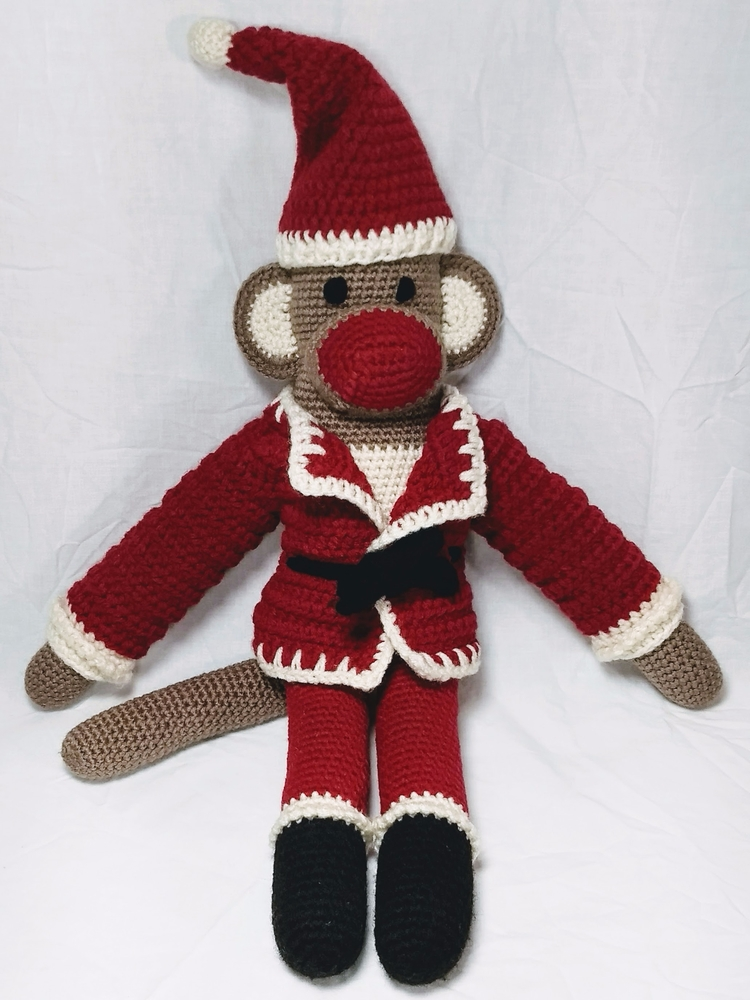 Happy Santa Monkey lots love ho - miniaturemonkeycreations | ello