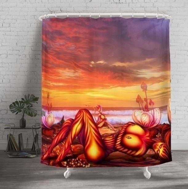 Shower Curtain Late evening Buy - exobiology_art | ello
