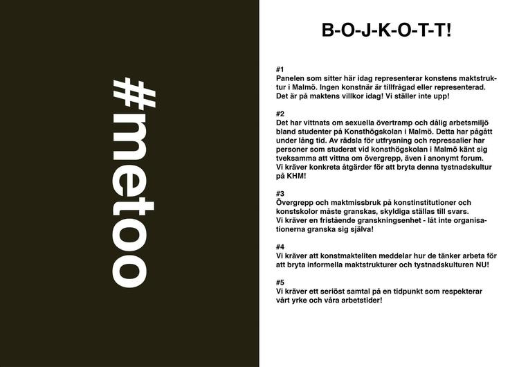 En bojkott av paneldebatt på Mo - kjmh | ello