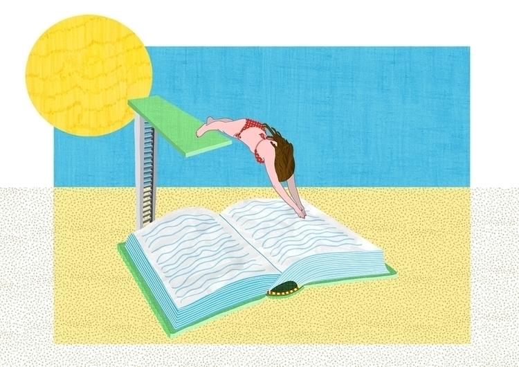 summer! Illustration SLAA - illustration - ellis__d | ello