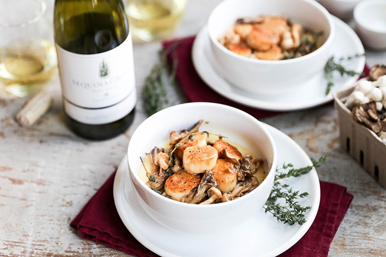 Scallops Mushrooms White Wine S - floatingkitchen | ello