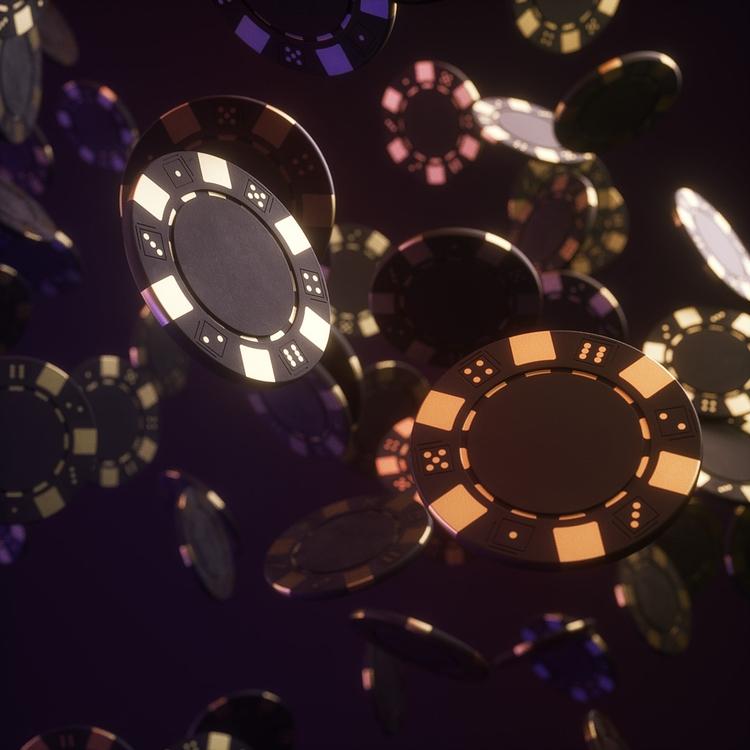 casino, chips, gambling, 3d, render - dimashishkov | ello