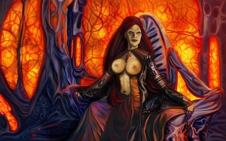 Domination queen illustration f - exobiology_art | ello