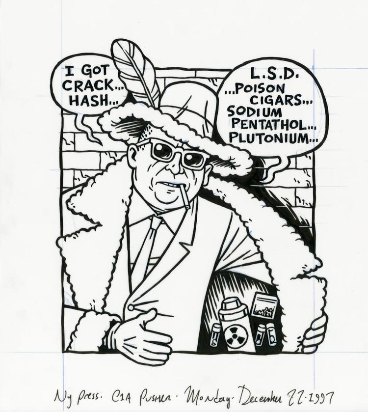 CIA Pusher Man, illo NYPress, 1 - dannyhellman | ello
