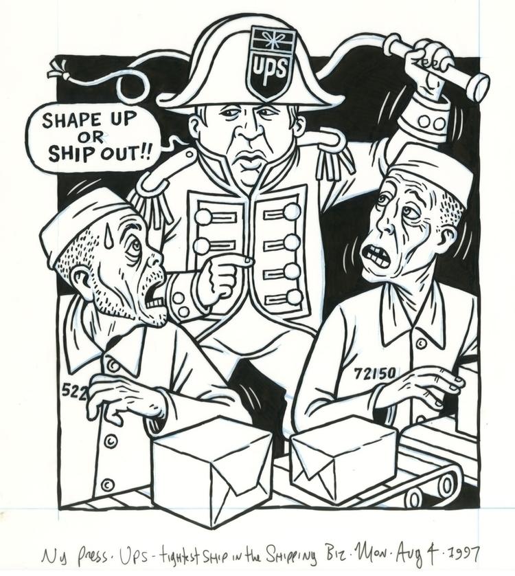 UPS Slave Ship, illo NYPress, 8 - dannyhellman | ello