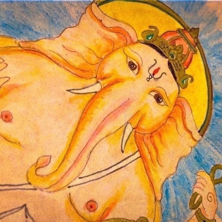 Bountiful Ganesha - dieties, elloart - madhavidevi | ello