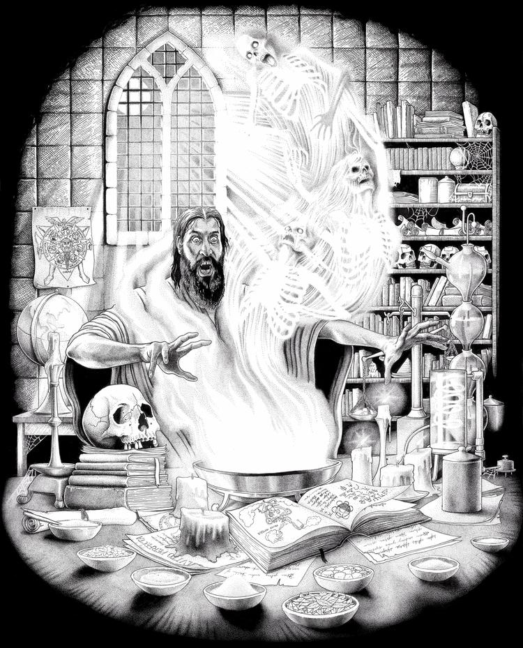 Stephen Bower. Alchemist. Pen I - stephenbowerart | ello
