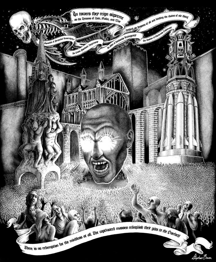 Stephen Bower. Overlord. Pen In - stephenbowerart   ello