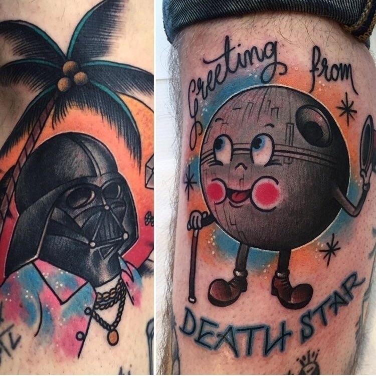 fun Star Wars tattoo Daniel Nor - ellotattoos | ello