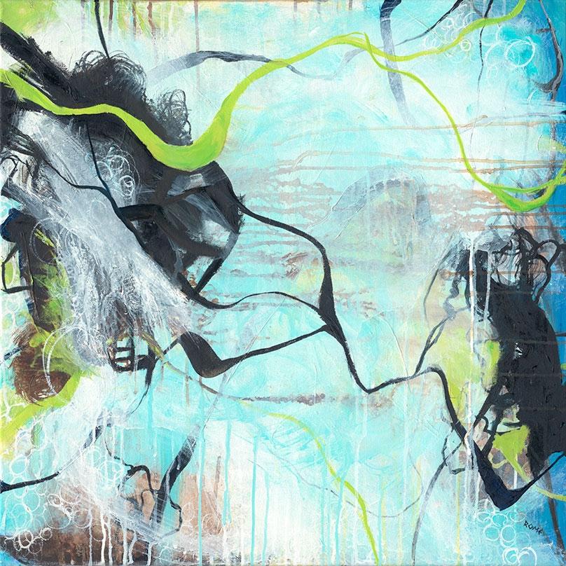 Tangled 24×24 Oil canvas starte - cogwurx | ello