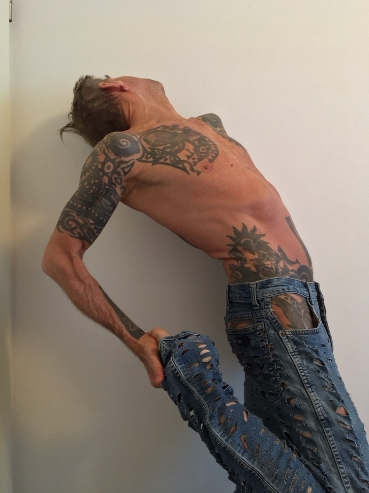 text jeans,cutouts.text john st - soek_madebysoek | ello