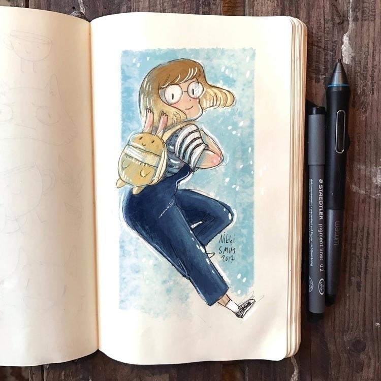 digitally colored sketchbook do - nikkismitsillustration   ello