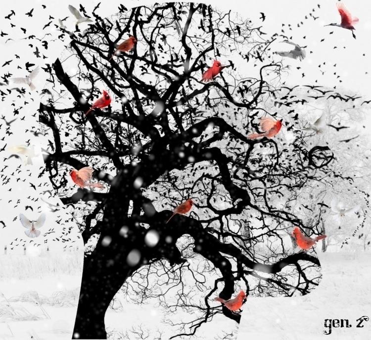 Red Birds Snow. Link Shop - red - gen_z   ello
