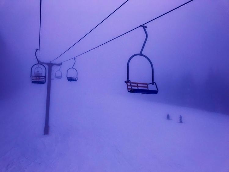 purple, purpleaesthetic, skiing - cameron-s | ello