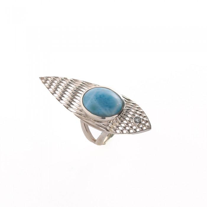 Vivid Aqua Ring - Larimar Silve - gemstonesilverjewelry | ello