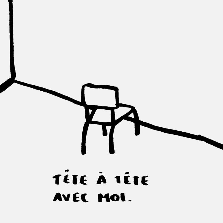 Tête à tête avec moi - art, illustration - frdgngrs | ello