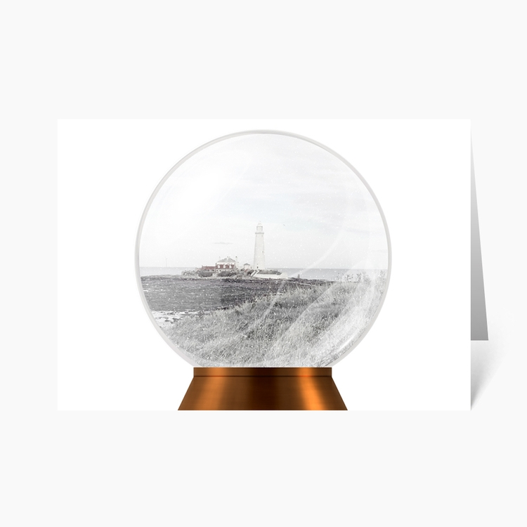 St Lighthouse Snow Globe Christ - wonderfulcraftcards | ello
