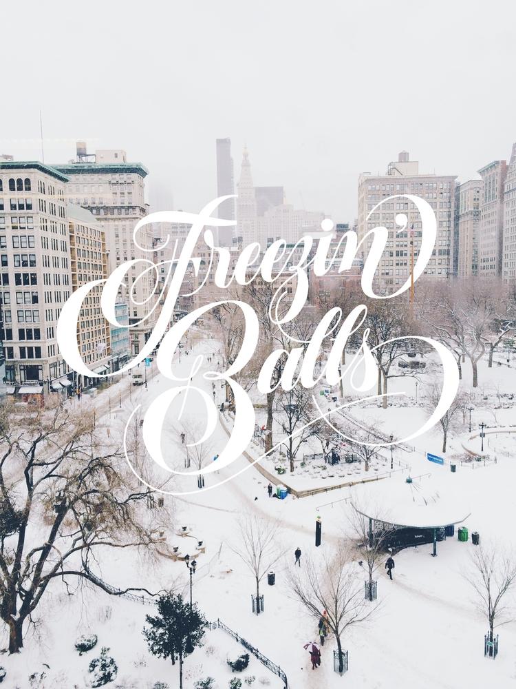 Freezing balls! :snowflake:️ 3  - rebeca-anaya   ello