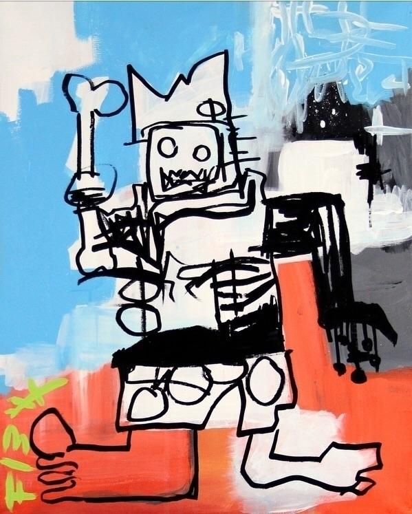 Basquiat Art 13 Acrylic Canvas  - bitfactory | ello