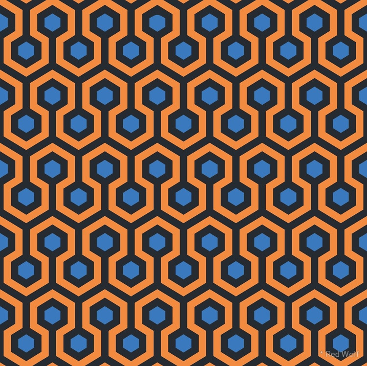 Geometric Pattern: Looped Hexag - red_wolf | ello