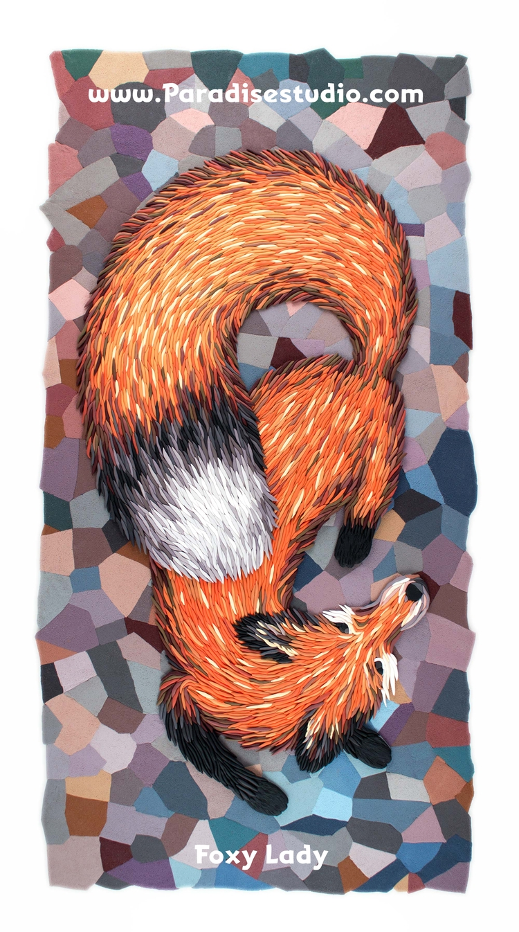 Foxy Lady Polymer clay illustra - josephbarbaccia | ello