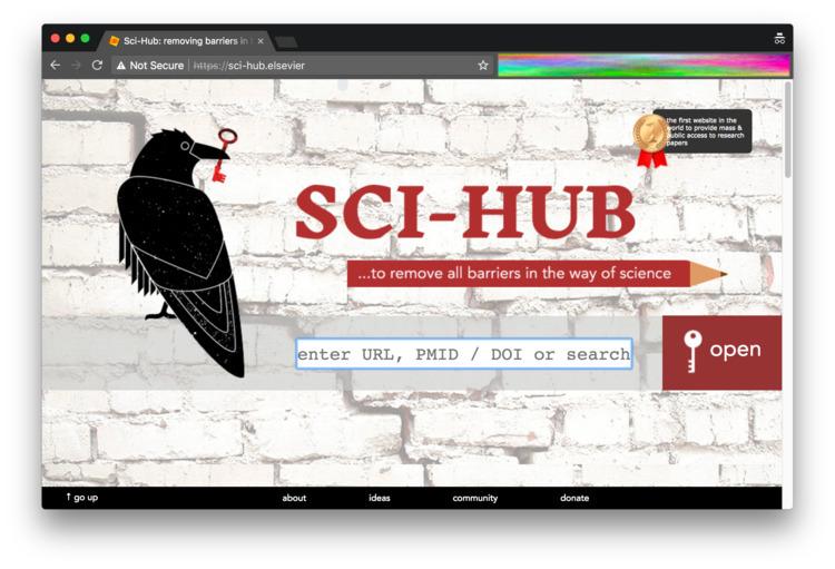 remember Sci-Hub week, bit DNS  - dredmorbius | ello