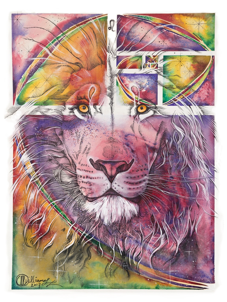 Leo Venus  - watercolor, penandink - pixelbender   ello
