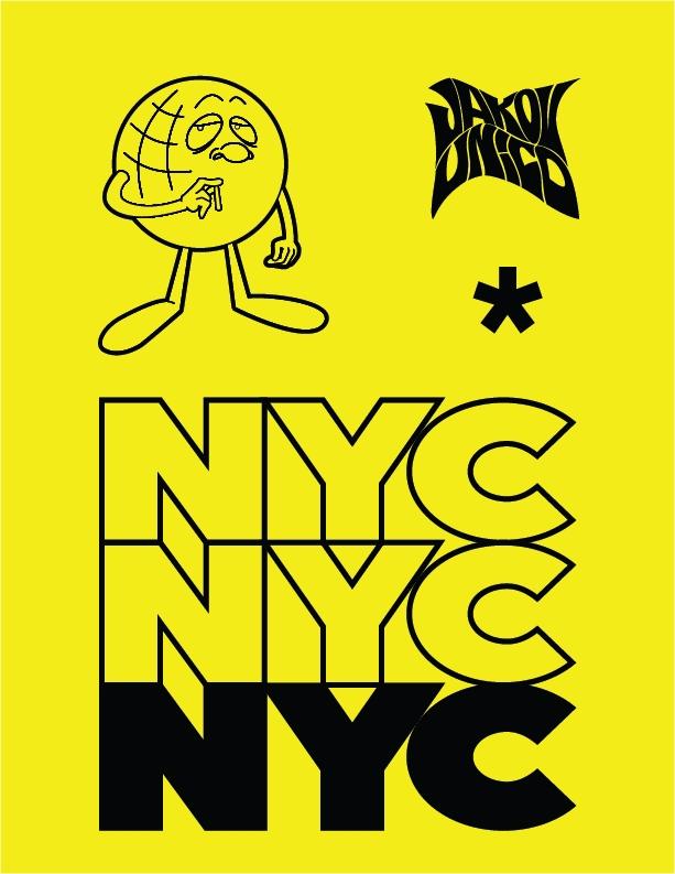 rave poster inspiration NYC JAK - jakovunico | ello