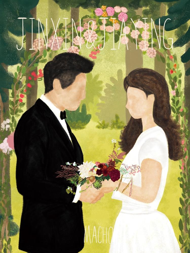 JINXIN JIAYING married - illustration - machoxie | ello