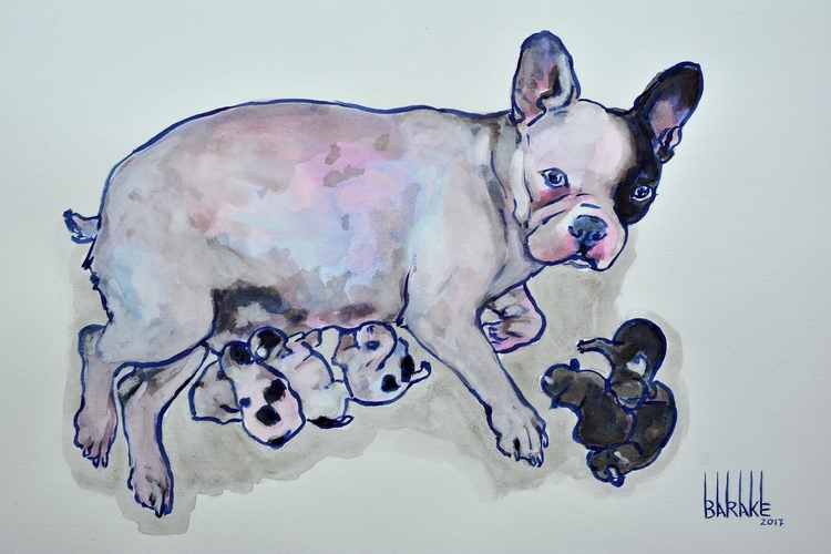 FRENCH BOULEDOGUE MATERNITY III - barakesculptor | ello