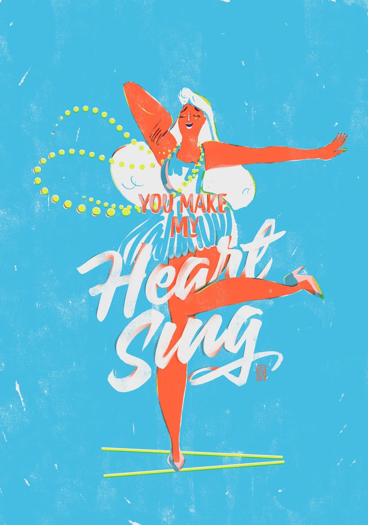 heart sing - love, illustration - eumiel | ello