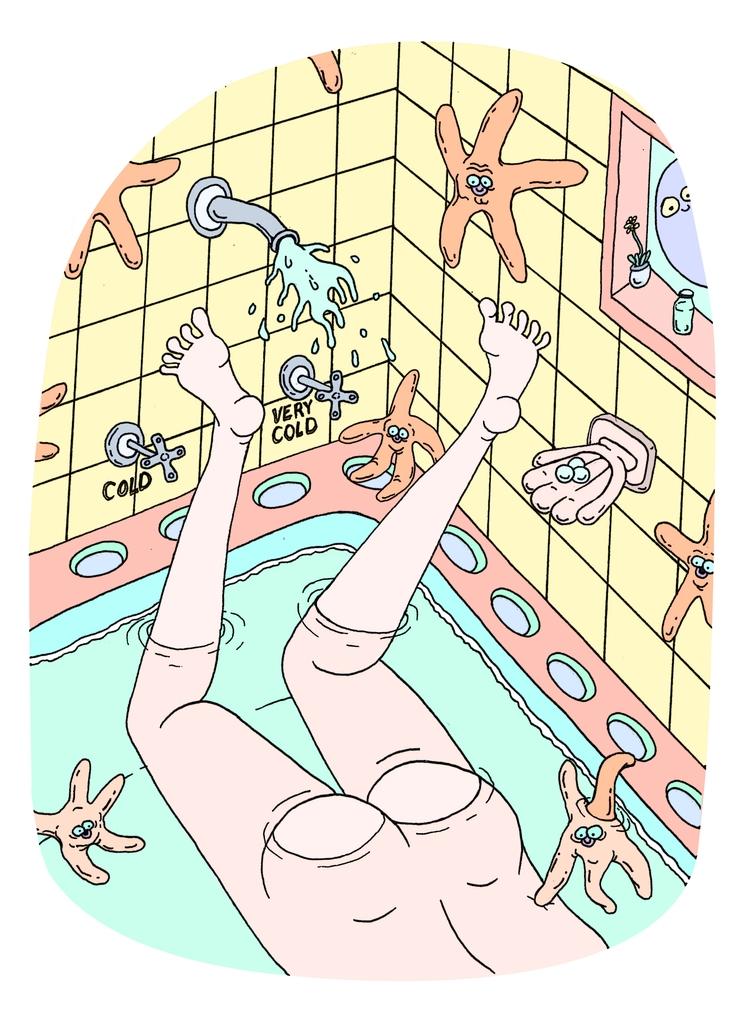 'bath time starfish butt' (2017 - _tenderhooks | ello