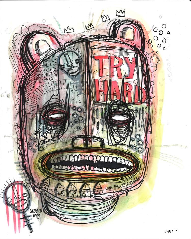 HARD PRINTS SHOP. LINK BIO - watercolor - skeleartart | ello