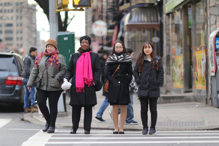 Crossing 49th Women waiting cro - kevinrubin | ello