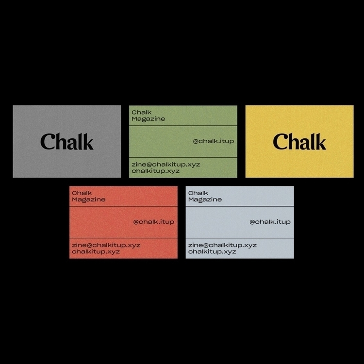 Business cards Chalk. Colours m - timsemple | ello