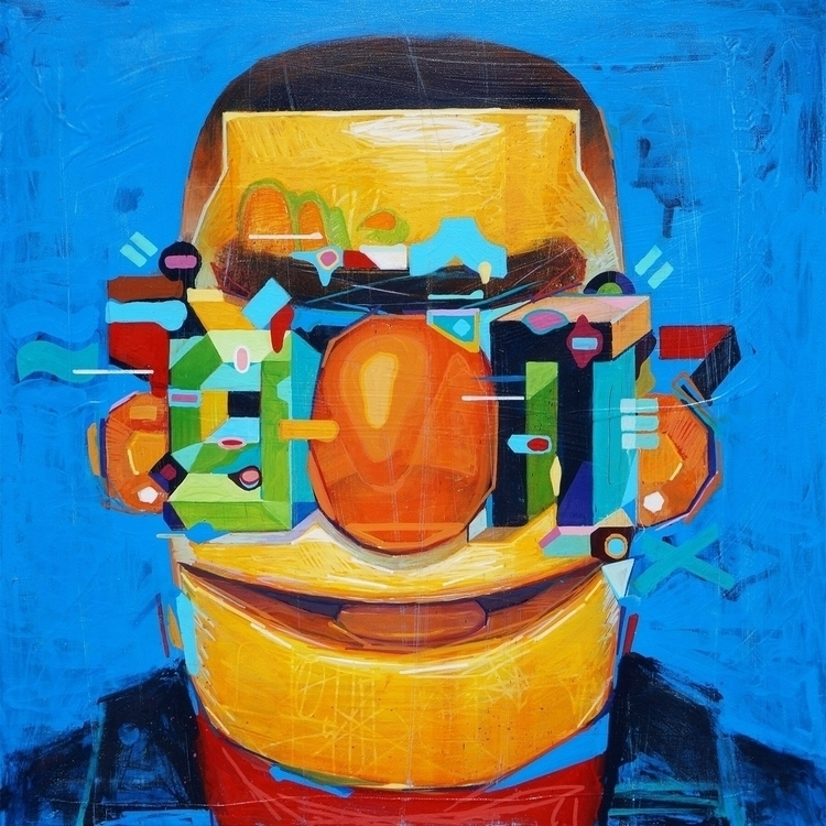 Bert reinterpreted - painting, elloart - samrodriguezart   ello