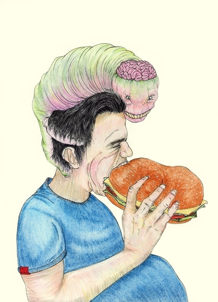 Burger King - illustration, pastels - thirdeyecreative | ello