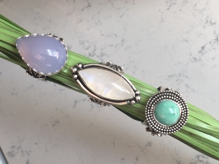 Silver Gems - bluechalcedony, variscite - bellabychrista | ello