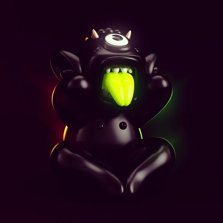 Meditation Monster - 3D, monster - oscarasecas | ello