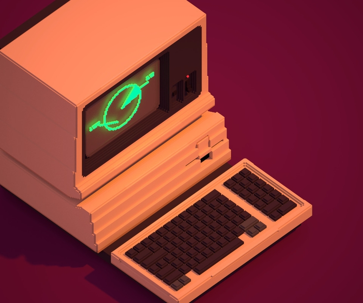 Apple  - MagicaVoxel, voxelart, 3D - ciara | ello