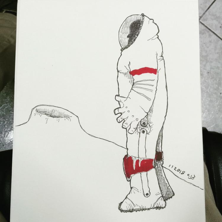 2018 drew - astronaut, comic, cartoon - cjburgos   ello